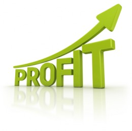 Graph showing matched betting profits
